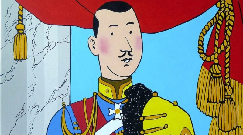 Tintin_Muskar-XII-roi-royaliste