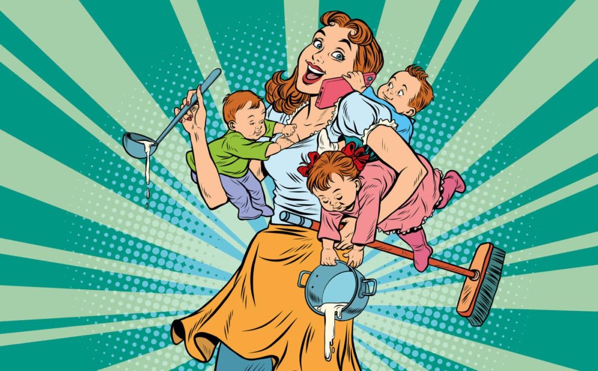 femme mère au foyer maîtresse de maison